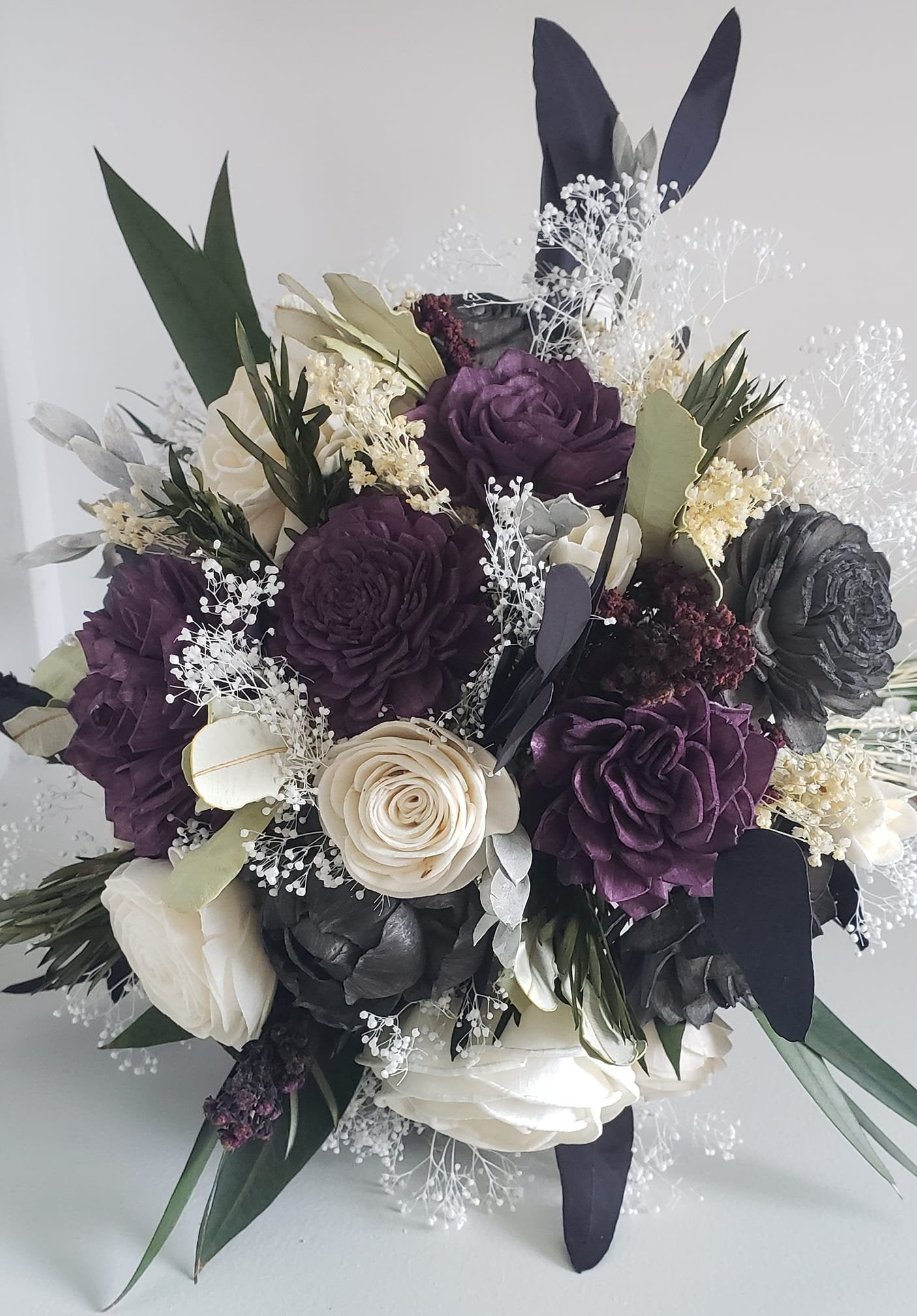 Plum and Charcoal Sola Bouquet