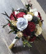Burgundy and Charcoal Music Bouquet