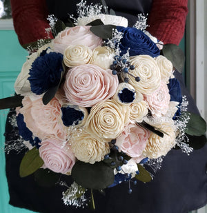 Navy and Blush Berry Bouquet
