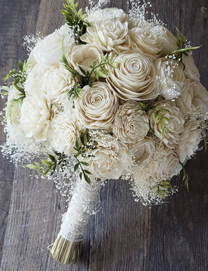 Neutral Ivory Sola Bouquet