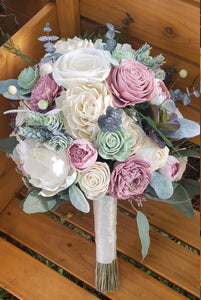 Rose Quartz and Sage Green Bouquet