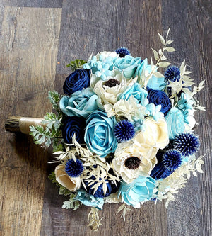 Winter Blue Bouquet