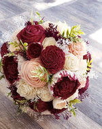 Burgundy Wine and Blush Sola Bouquet