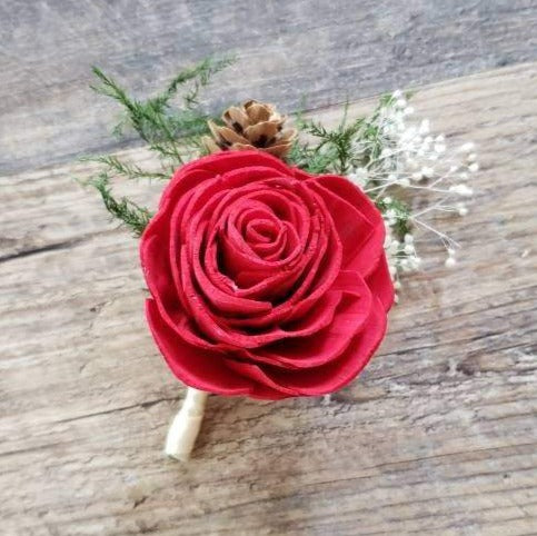 Rose Pinecone Boutonniere