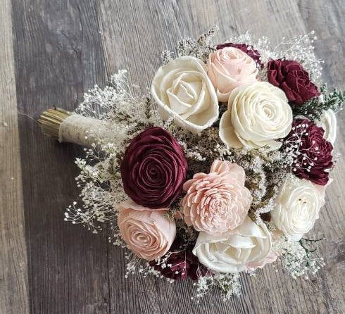 Wine and Blush Sola Bouquet
