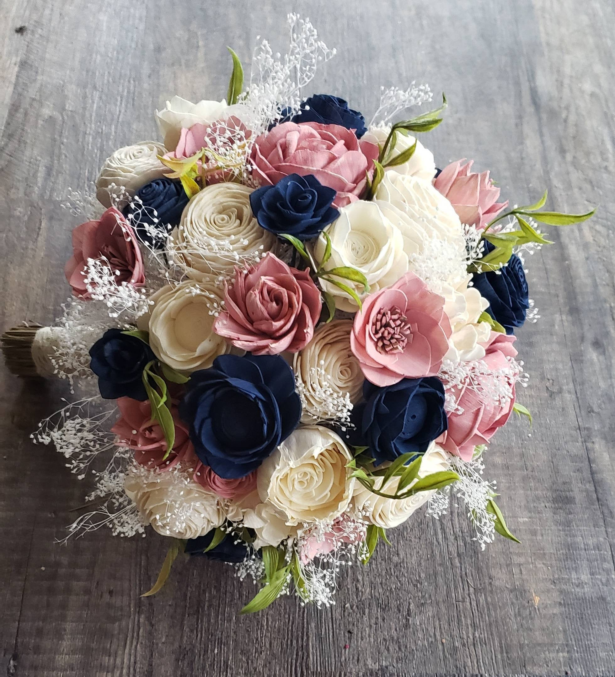 Dusty Pink And Navy Blue Bouquet My Dinosaur Dreams