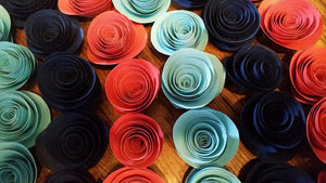 Handmade Paper Rose Decor