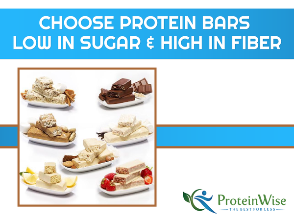 Choose Protein Bars Low in Sugar & High in Fiber