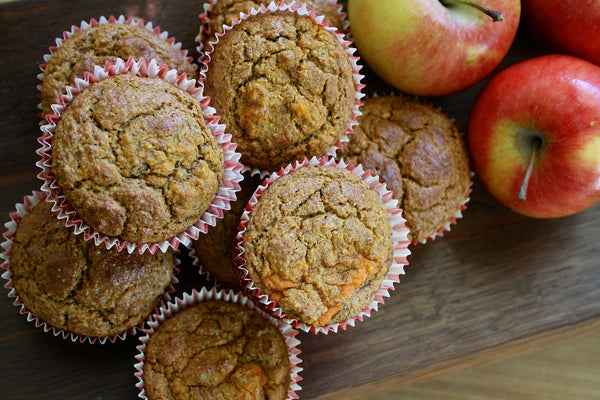 Apple Cinnamon Oatmeal Muffins