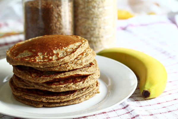 Apple & Cinnamon Oatmeal Pancakes