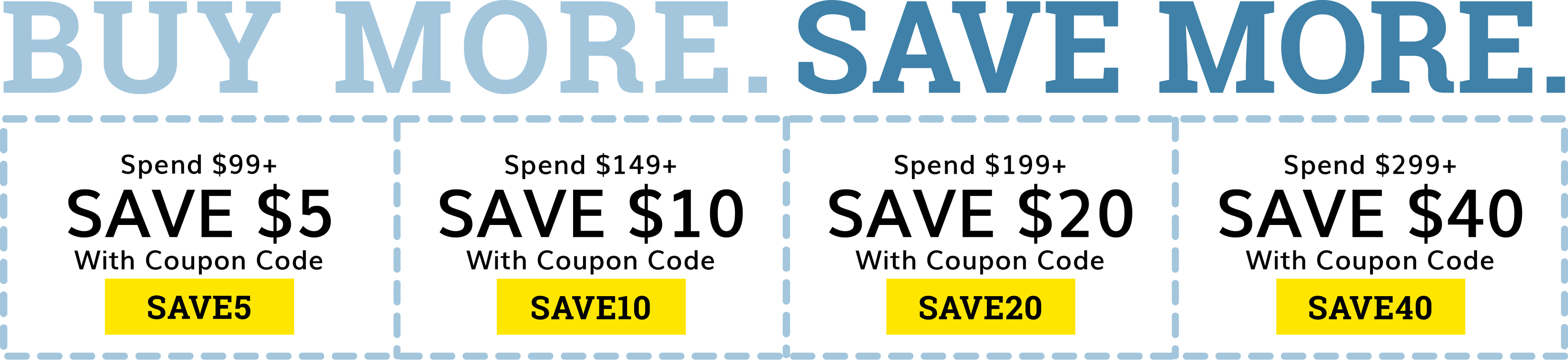 Buy More Save More Discounts