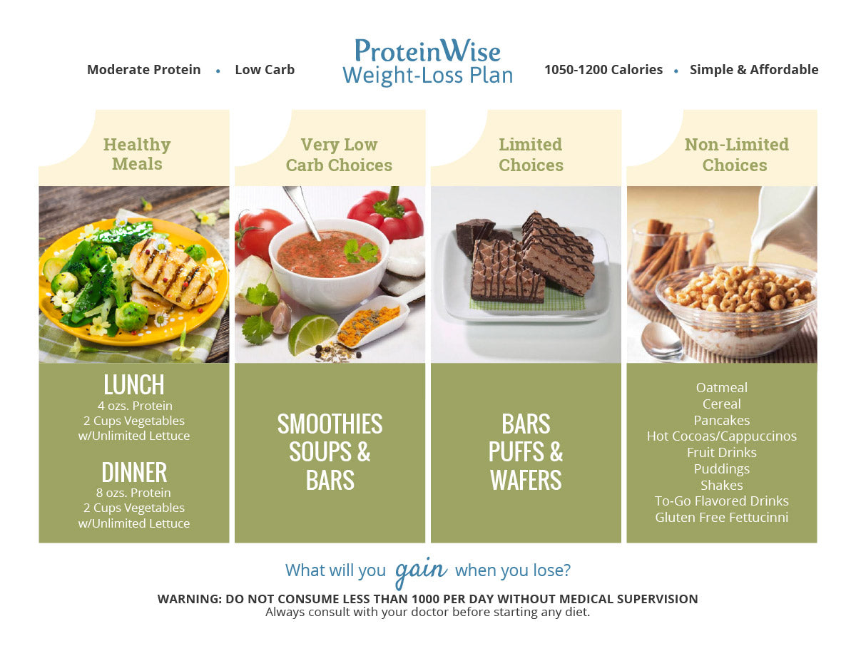 Plan meal protein weight high loss