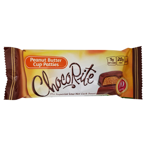 Snacks - HealthSmart ChocoRite Peanut Butter Cup Patties - 16 Bars - ProteinWise
