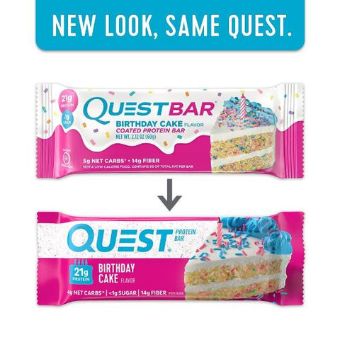 Protein Bars - Quest High Protein Bars - Birthday Cake - 12 Bars - ProteinWise