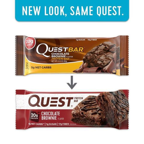 Protein Bars - Quest High Protein Bars - Chocolate Brownie - 12 Bars - ProteinWise