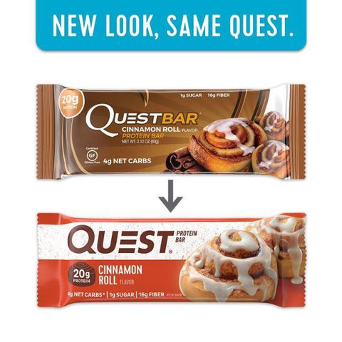 Protein Bars - Quest High Protein Bars - Cinnamon Roll - 12 Bars - ProteinWise