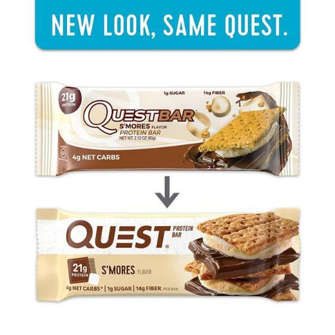 Protein Bars - Quest High Protein Bars - S'mores - 12 Bars - ProteinWise