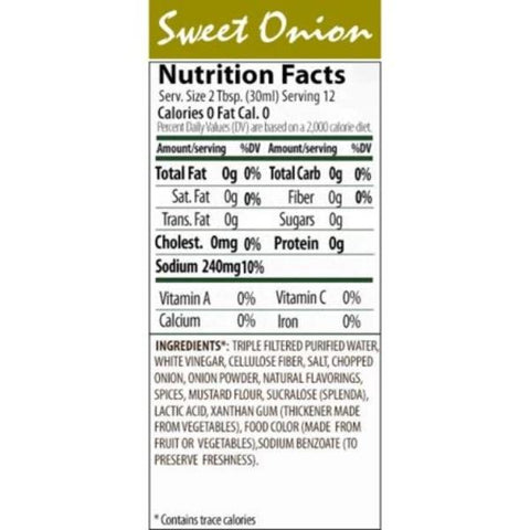 Walden Farms Sweet Onion Dressing - 12oz