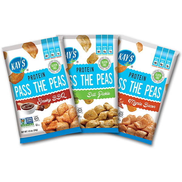Snacks - Kay's Naturals - Pass The Peas Protein Snacks - 1-oz Single Bag - ProteinWise