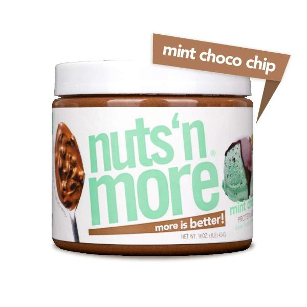 Nuts 'N More High Protein Mint Chocolate Chip Peanut Butter Spread - 16 oz.