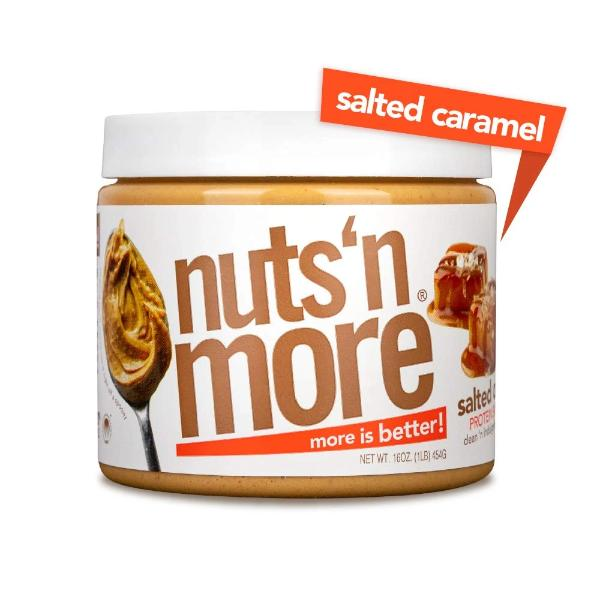 Nuts 'N More High Protein Peanut Spread Salted Caramel - 16 oz.