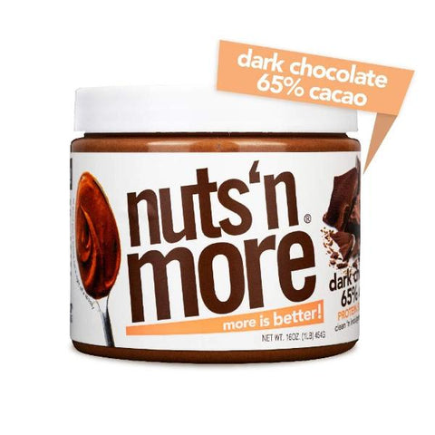 Nuts 'N More High Protein Peanut Spread Dark Chocolate 65% CACAO  - 16 oz