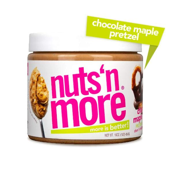 Nuts 'N More High Protein Peanut Spread Chocolate Maple Pretzel - 16oz.