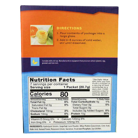 Cold Drinks - ProteinWise - Grapefruit Protein Fruit Drink - 7/Box - ProteinWise