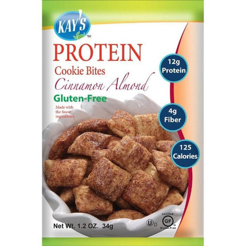 Kay's Naturals Protein Cookie Bites - Cinnamon Almond - 1.2-oz Bags (Pack of 6)