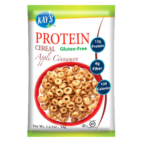 Kay's Naturals Protein Cereal - Apple Cinnamon - 1.2-oz Bags (Pack of 6)