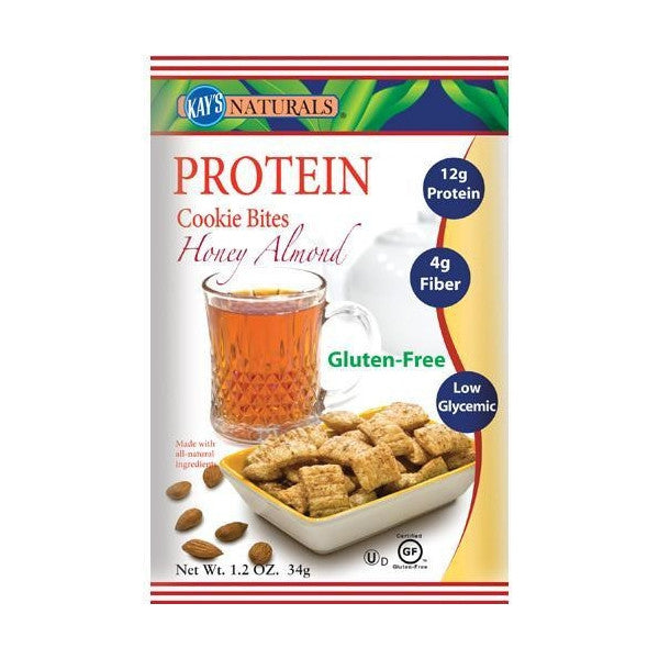 Snacks - Kay's Naturals Protein Cookie Bites - Honey Almond - 6 Bags - ProteinWise