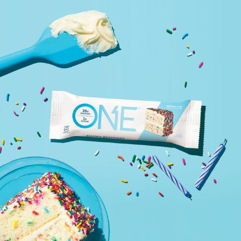 Protein Bars - Oh Yeah! High Protein One Bar - Birthday Cake - 12 Bars - ProteinWise