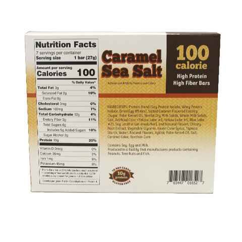 ProteinWise - Caramel Sea Salt Lite Protein Bars - 7/Box
