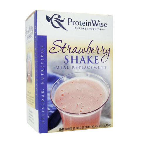 ProteinWise - Strawberry Shake Meal Replacement 35g Protein Drink - 7/Box