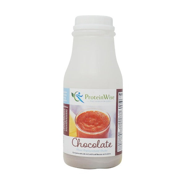 ProteinWise - Chocolate Meal Replacement Shake/Pudding - 100 Calorie - Single Bottle