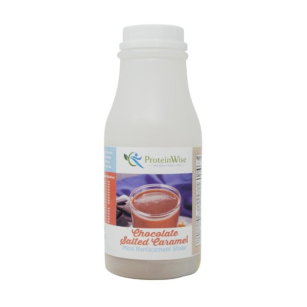 ProteinWise - Chocolate Salted Caramel Meal Replacement Shake/Pudding - 100 Calorie - Single Bottle