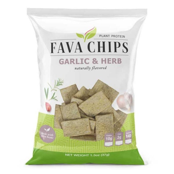 ProteinWise - Fava Chips - Garlic & Herb - 1 Bag