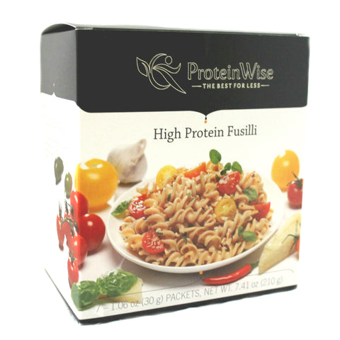 Entrees - ProteinWise - High Protein Low Carb Pasta - Fusilli -7/Box - ProteinWise