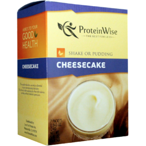 Pudding/Shakes - ProteinWise - New York Cheesecake Shake or Pudding - 7/Box - ProteinWise