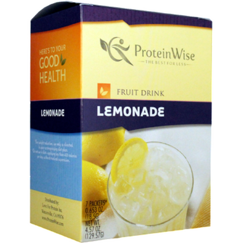 Cold Drinks - ProteinWise - Lemonade Protein Fruit Drink - 7/Box - ProteinWise