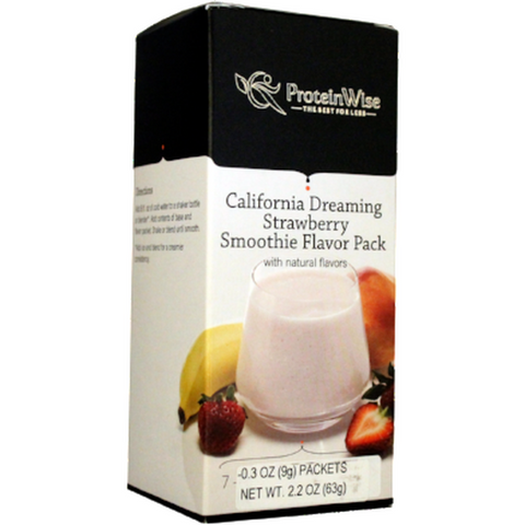 Smoothies - ProteinWise - California Dreaming Strawberry Smoothie Flavor Pack - 7/Box - ProteinWise