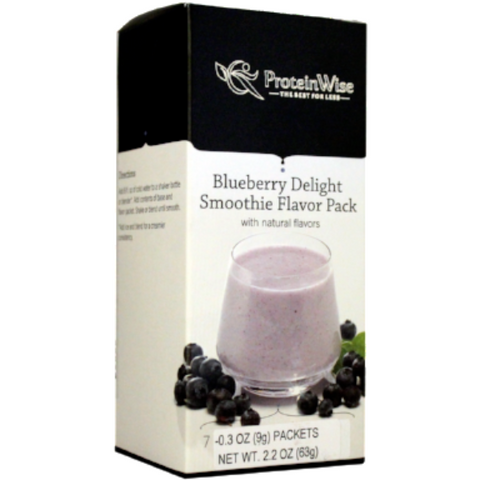 Smoothies - ProteinWise - Blueberry Delight Smoothie Flavor Pack  - 7/Box - ProteinWise