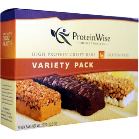 Protein Bars - ProteinWise - Variety Pack Crispy Protein Bar - 7 Bars - ProteinWise