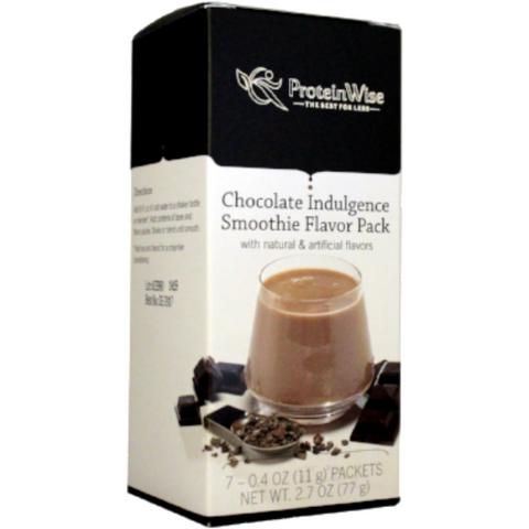 Smoothies - ProteinWise - Chocolate Indulgence Smoothie Flavor Pack - 7/Box - ProteinWise