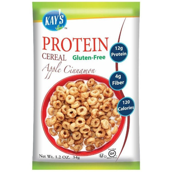Kay's Naturals Protein Cereal - Apple Cinnamon - 1.2-oz Single Bag