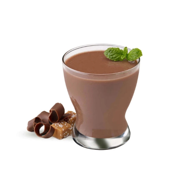 Meal Replacements - ProteinWise - Chocolate Salted Caramel Meal Replacement Shake/Pudding - 100 Calorie - 7/Box - ProteinWise