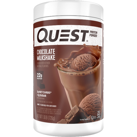 Protein Powder - Quest High Protein Powder - Chocolate Milkshake - 1.6 LB - ProteinWise