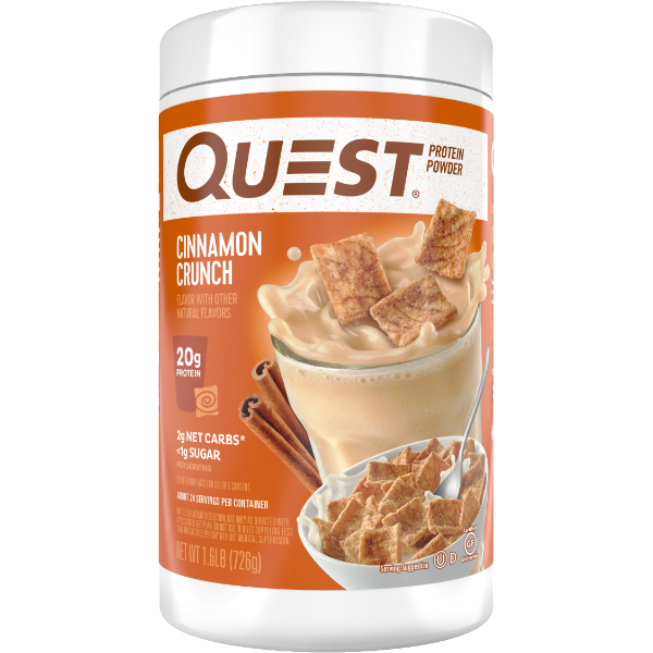 Protein Powder - Quest High Protein Powder - Cinnamon Crunch  - 1.6 LB - ProteinWise