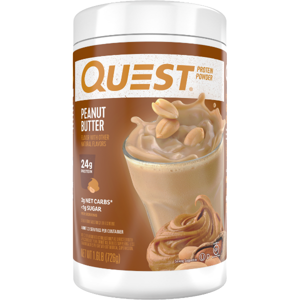 Protein Powder - Quest High Protein Powder - Peanut Butter  - 1.6 LB - ProteinWise