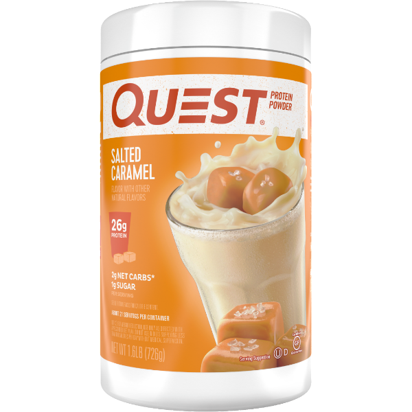 Protein Powder - Quest High Protein Powder - Salted Caramel  - 1.6 LB - ProteinWise